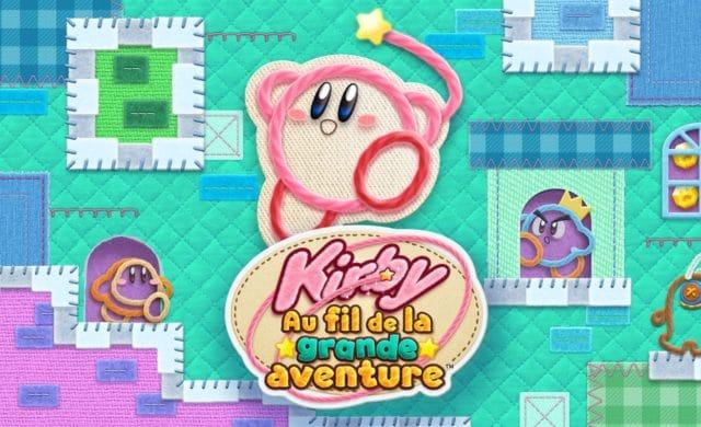Kirby Au fil de la grande aventure - Titre et logo