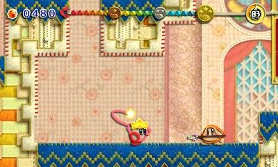 Kirby: Au fil de la grande aventure - Kirby et son fouet