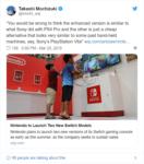 Nintendo Switch - Takashi Mochizuki tweet2