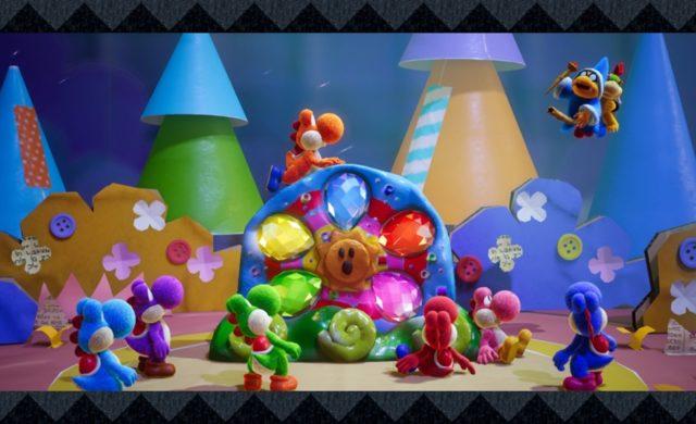 Yoshi's Crafted World les Yoshis et leurs diamants
