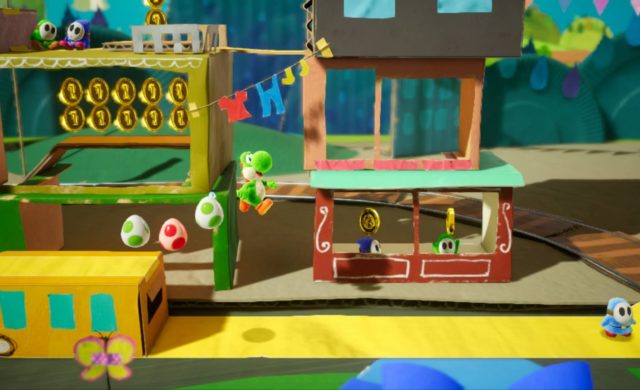 Yoshi's Crafted World stage du train