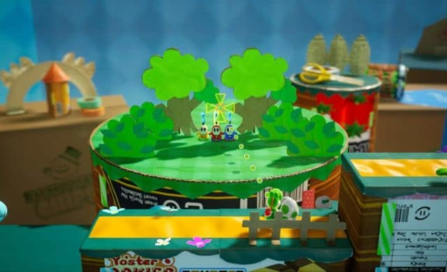Yoshi's Crafted World visée arrière-plan