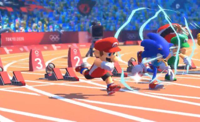 Mario et Sonic aux jeux olympiques de Tokyo 2020 course