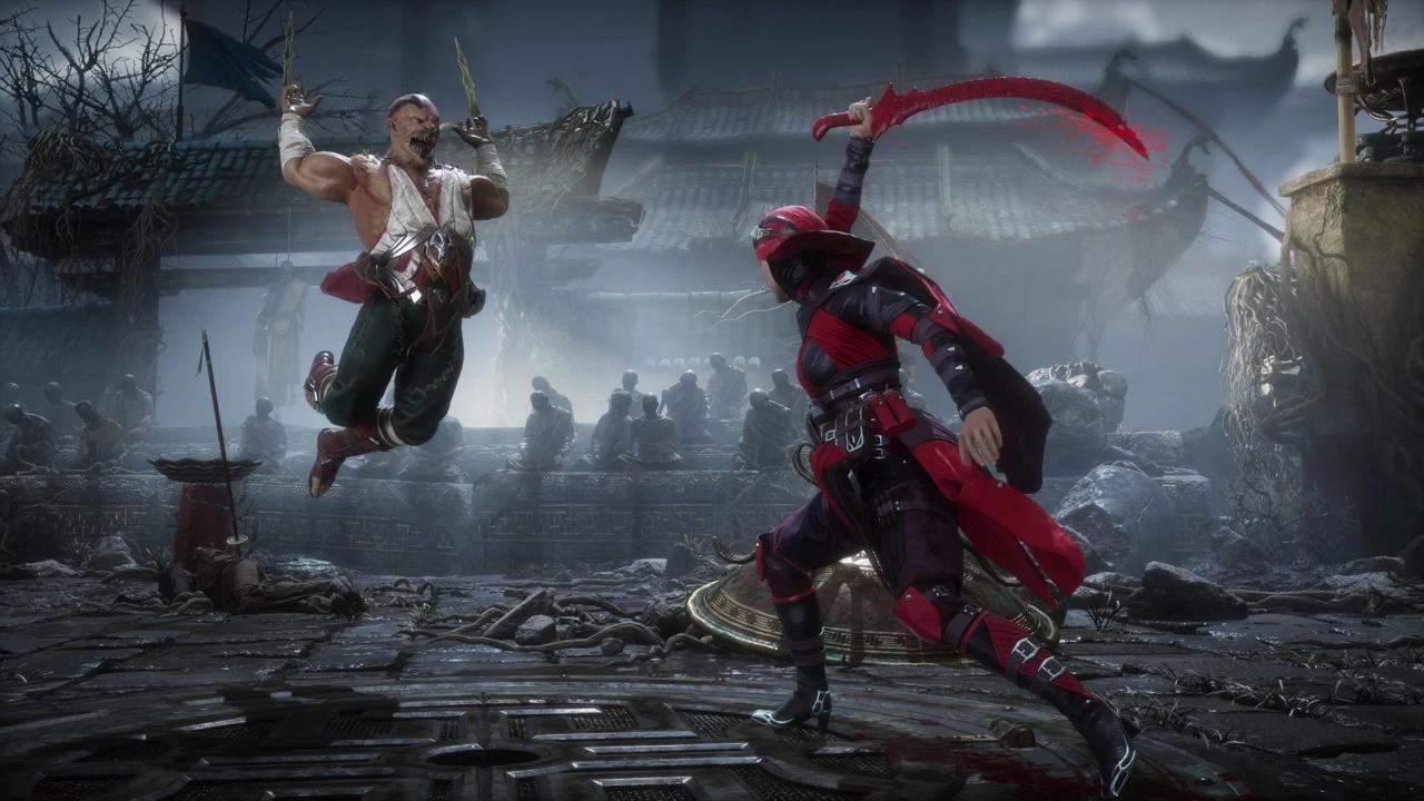 Mortal kombat XI Baraka vs Skarlet