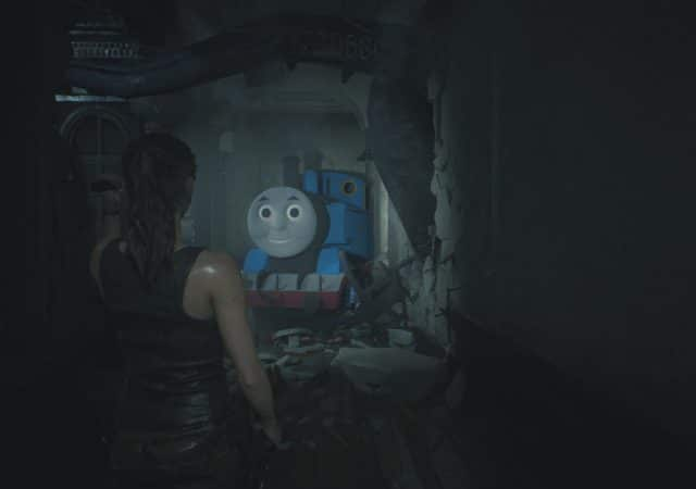 resident evil 2 mod claire thomas le petit train