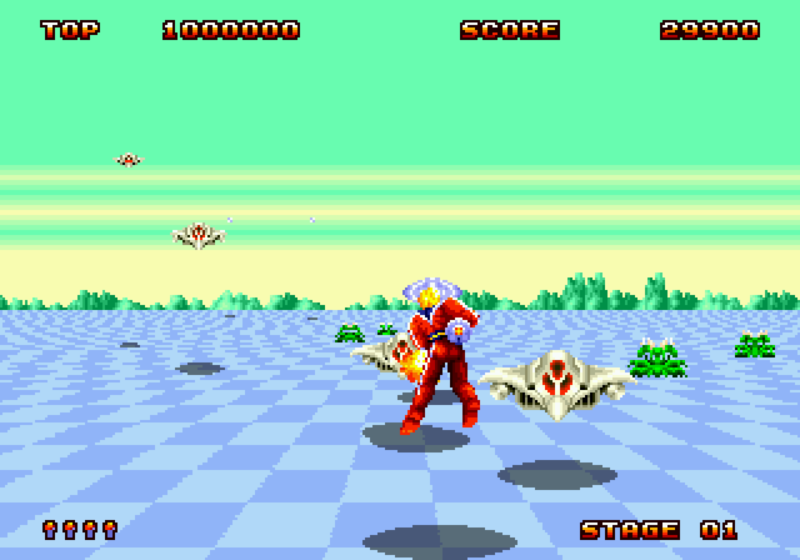 Space Harrier screenshot Megadrive