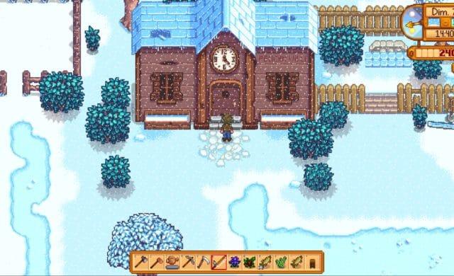 stardew valley centre communautaire neige