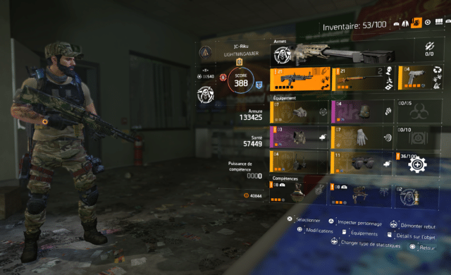 test the division 2 personnage