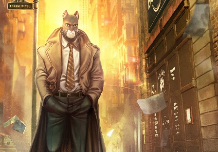 Illustration Blacksad rue