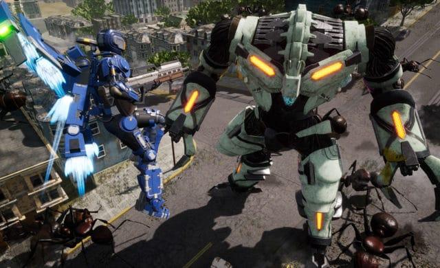 Earth Defense Force: Iron Rain classe volante robot géant