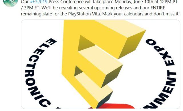 Limited Run Games - Tweet E3