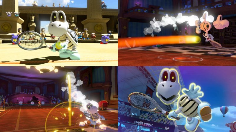 Mario Tennis Aces - Skelerex en action