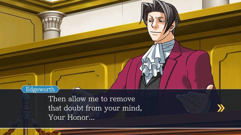 Phoenix Wright Ace Attorney Trilogy - Le procureur Edgeworth