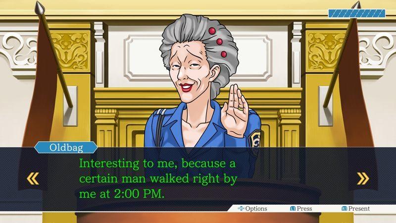 Phoenix Wright Ace Attorney Trilogy - Témoignage de la vieille
