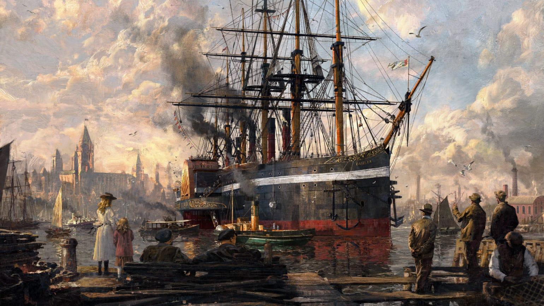 Anno 1800 arrivée au port