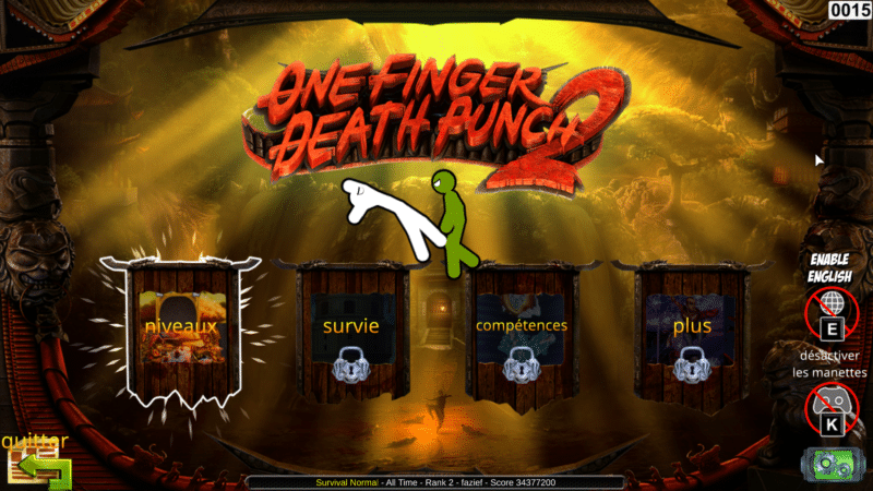 one finger death punch 2 menus