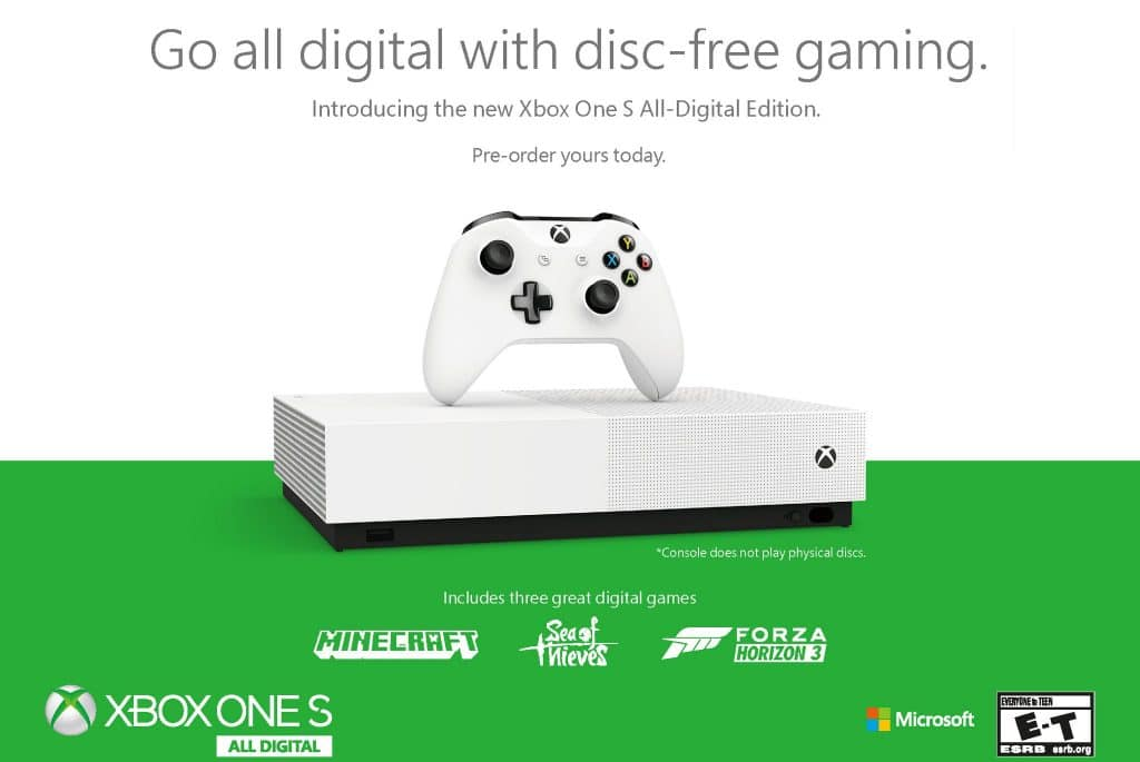 All Black Xbox One S Wallpaper: La Xbox One S All-Digital Edition Annoncée Officiellement