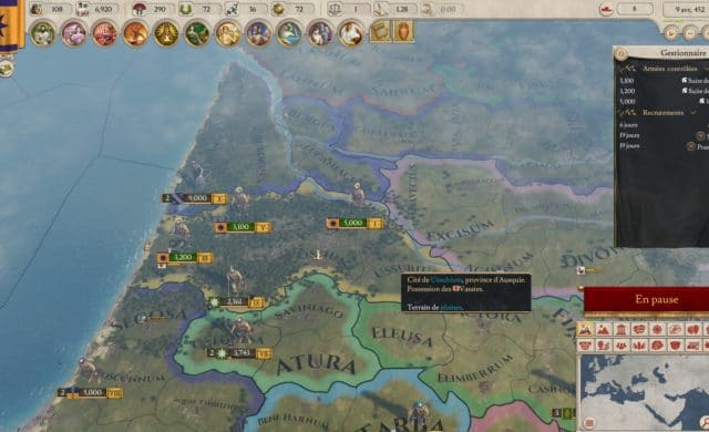 Imperator: Rome carte in-game