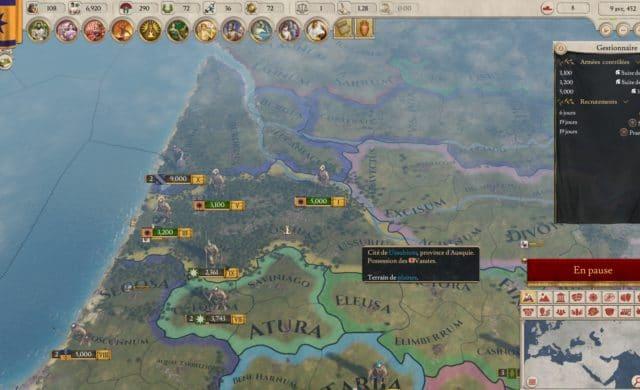Imperator: Rome carte in-game
