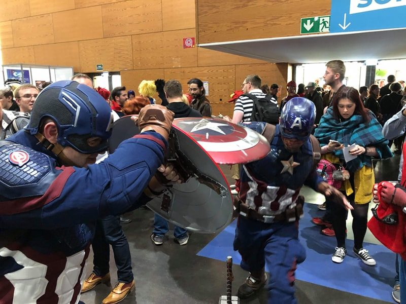 Geek Days 2019 cosplay Captain america fight