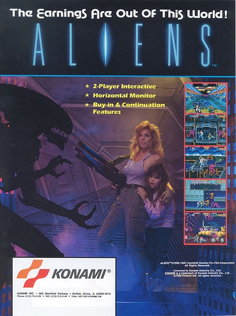 Alien Aliens Arcade 1990 pub
