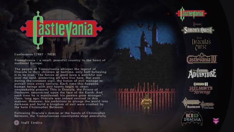 Castlevania Anniversary Collection - De l'histoire