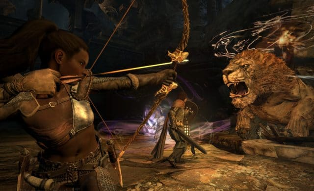 Dragon's Dogma: Dark Arisen combat manticore