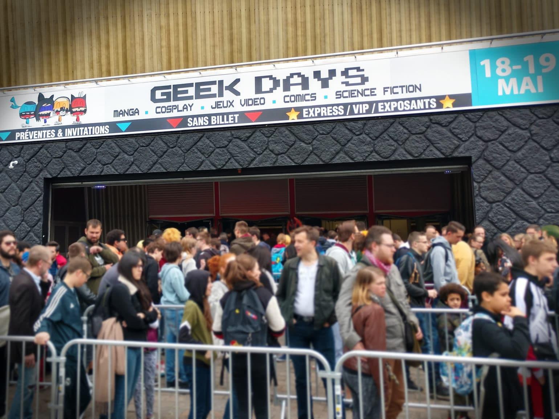 Geek Days Entrée file d'attente enseigne
