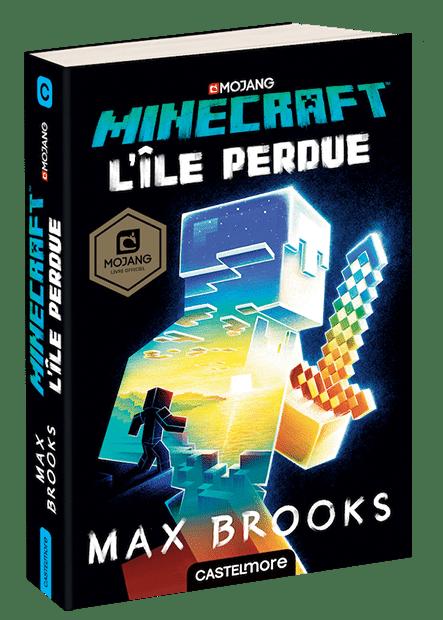 Minecraft L'île Perdue roman couverture
