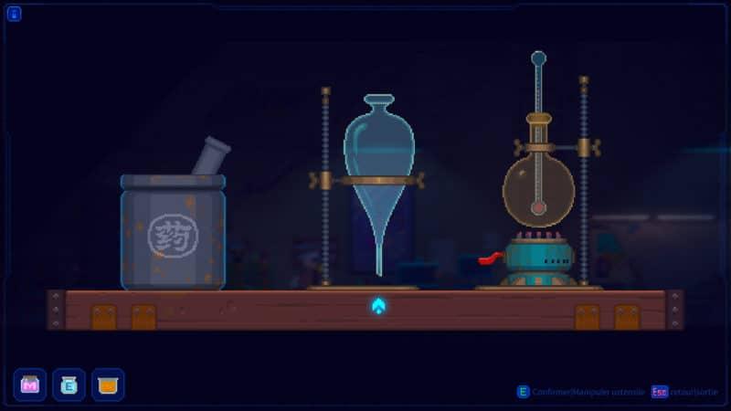 Tales of the Neon sea mini jeu chimie