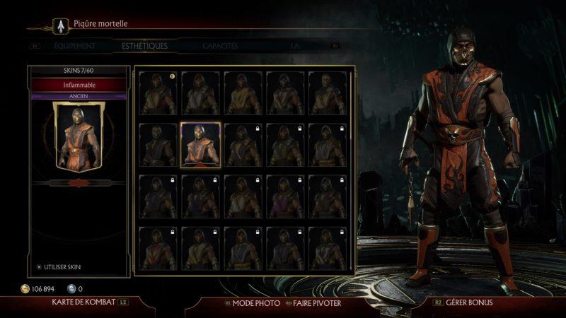 mortal kombat 11 skin scorpion