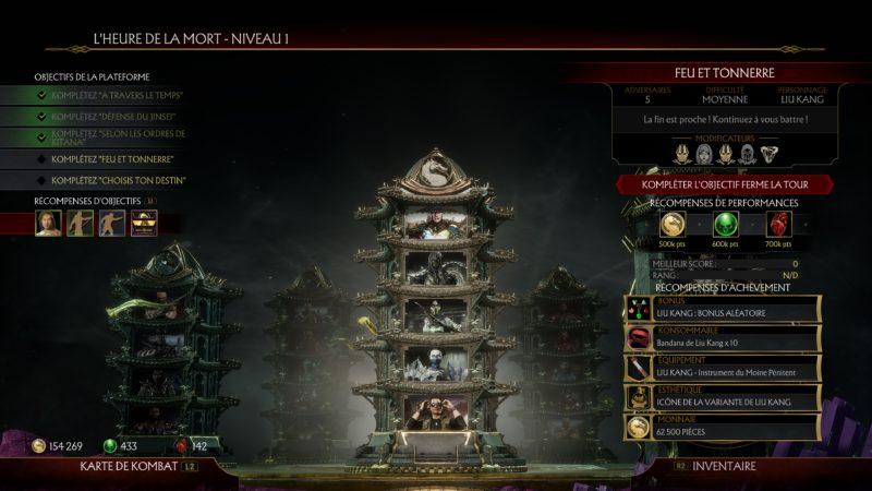 mortal kombat 11 tour du temps tour