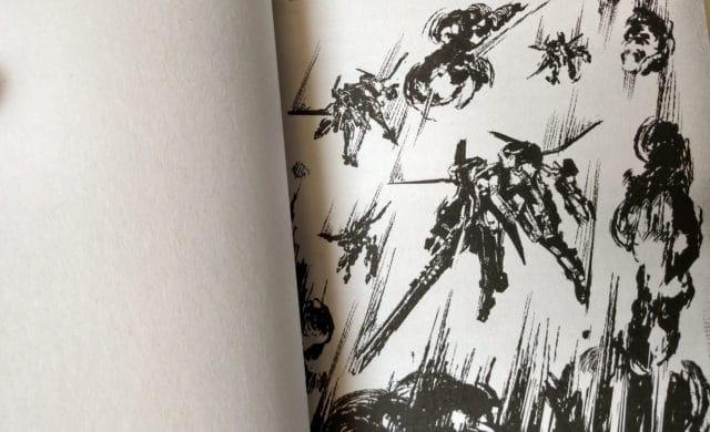 NieR: Automata Short Story Long Illustration intérieure combat modules aériens