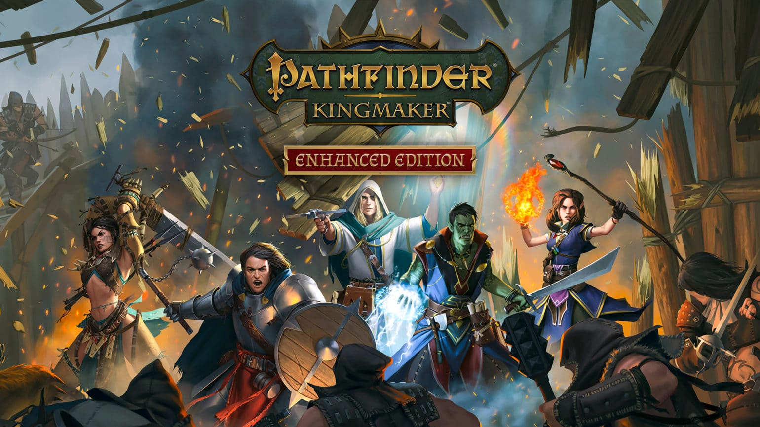 Affiche lancement Pathfinder kingmaker enhanced edition