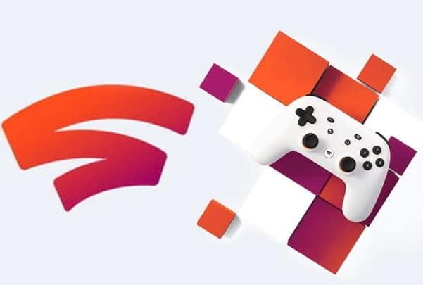 Logo Google Stadia et manette