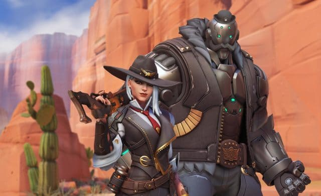 Overwatch Personnages robot desert ashe