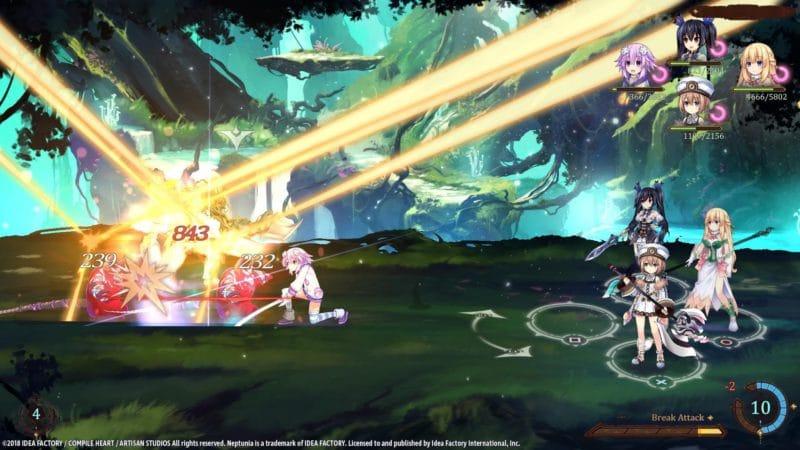 Super Neptunia RPG combat