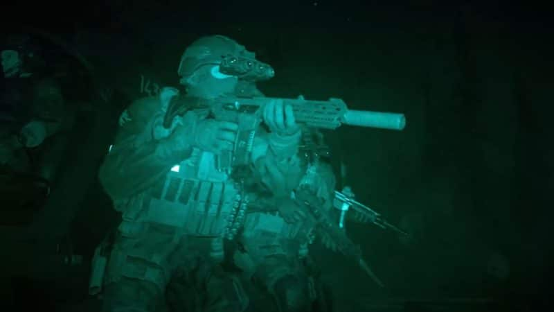 call of duty modern warfare night vision