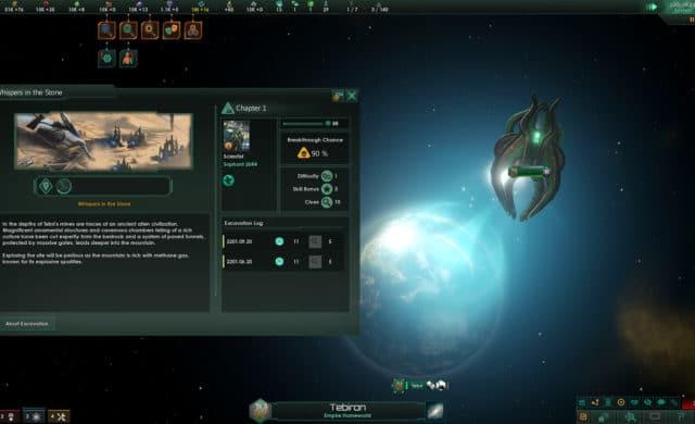 Stellaris DLC Ancient Relics screen capture