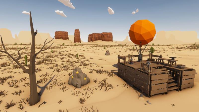 Paysage desert skies