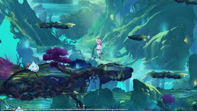 Super Neptunia RPG forêt