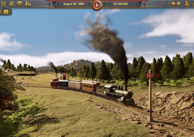 Railroad corporation train à vapeur