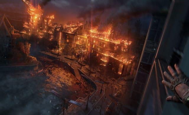 dying light 2 ville en feu