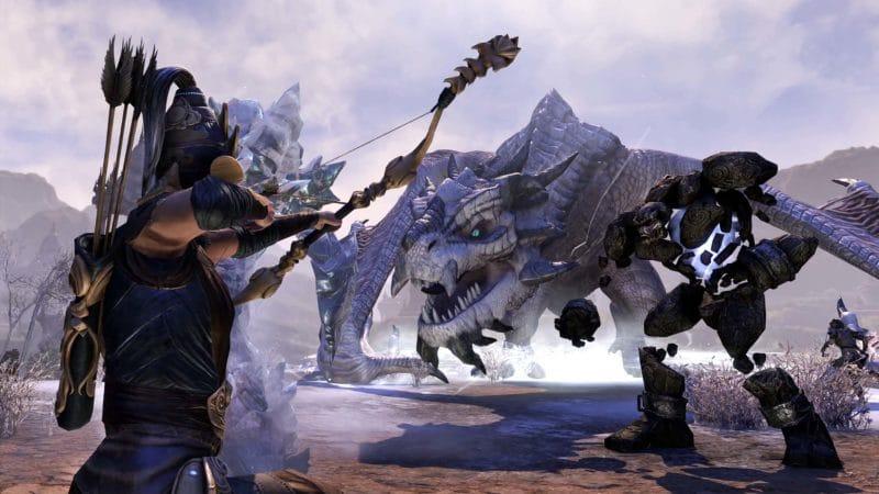 The Elder Scrolls Online dragon fight