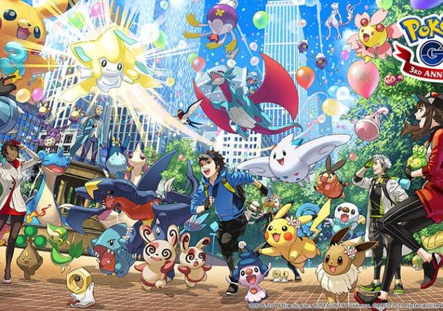 Pokémon GO - 3ème anniversaire