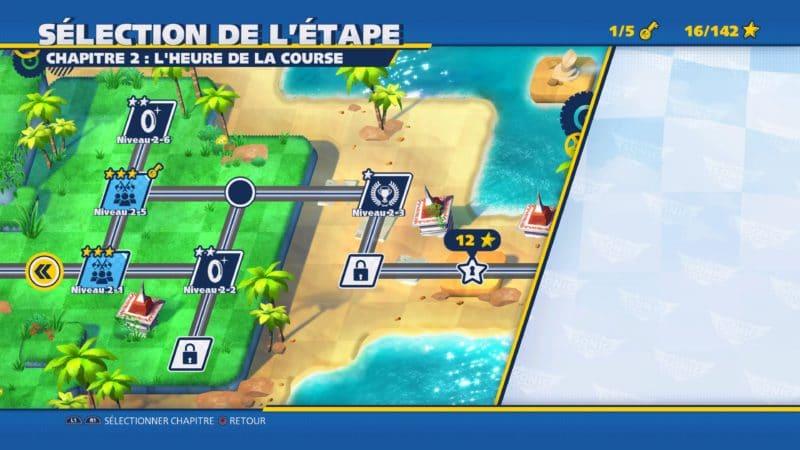 Team Sonic Racing - Carte du mode aventure