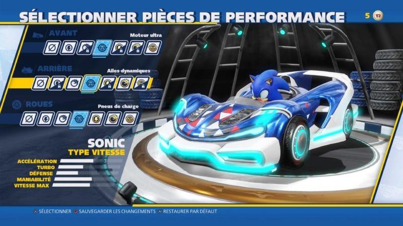 Team Sonic Racing - Personnalisation visuelle