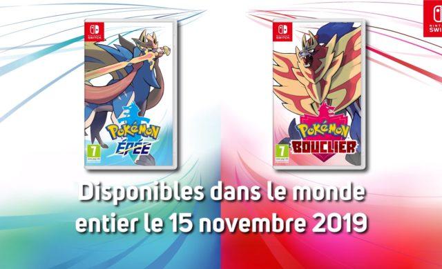 Pokémon Épée et Bouclier - Date de sortie