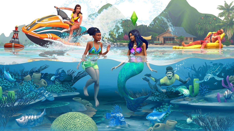 Les Sims 4 îles paradisiaques poster