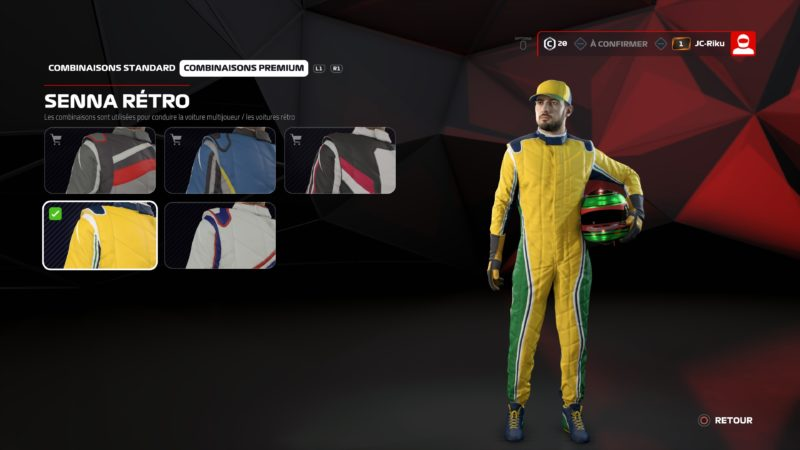 Test F1 2019 personnalisation personnage